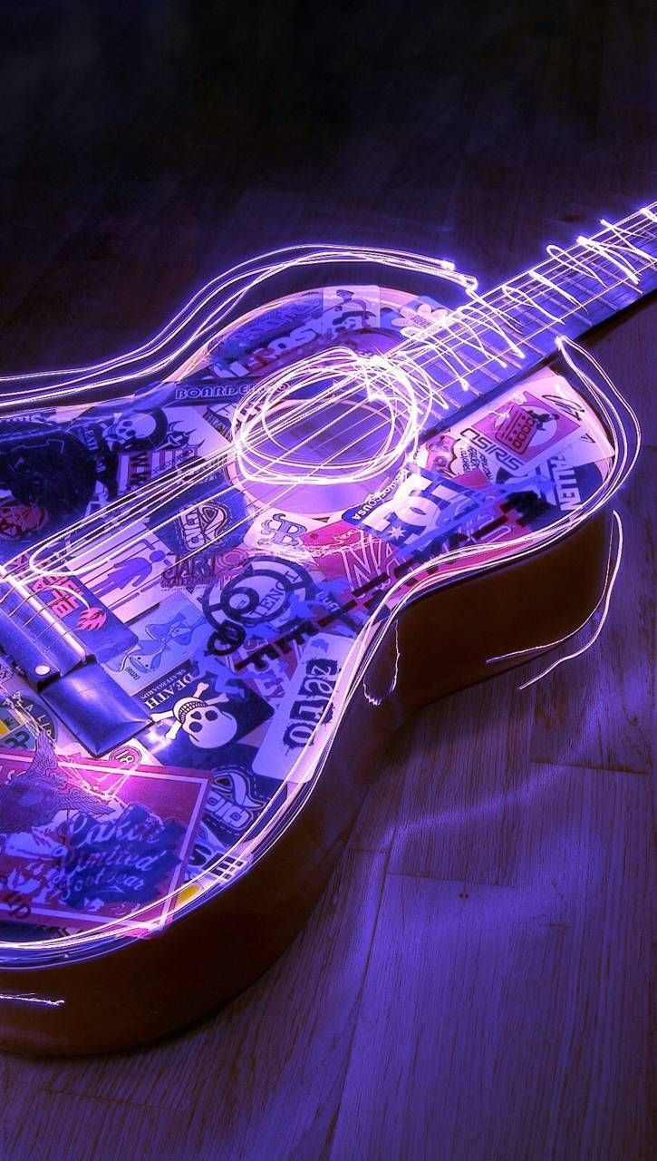 Download Neon guitar Wallpaper by 1M9J9S3 - d8 - Free on