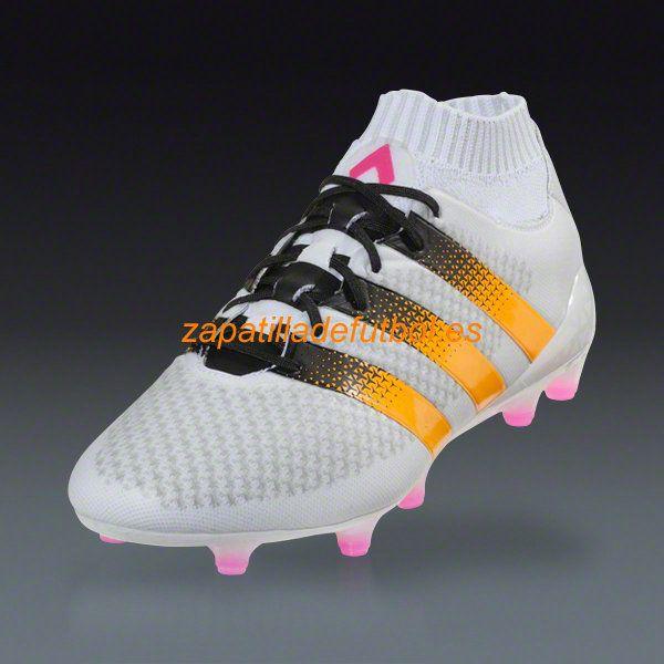 Barato Tacos de futbol Adidas Ace 16+ Primeknit FG/AG Solar Blanco Rosa Choque Oro