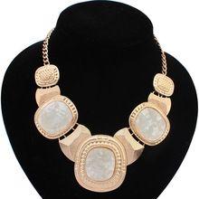nuevo diseño retro 2014 clavicular cadena de cristal gargantilla collar declaración para las niñas mujeres traje collar accesorios principales(China (Mainland))