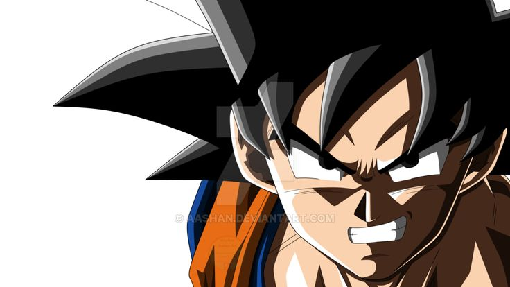 Image result for goku angry face