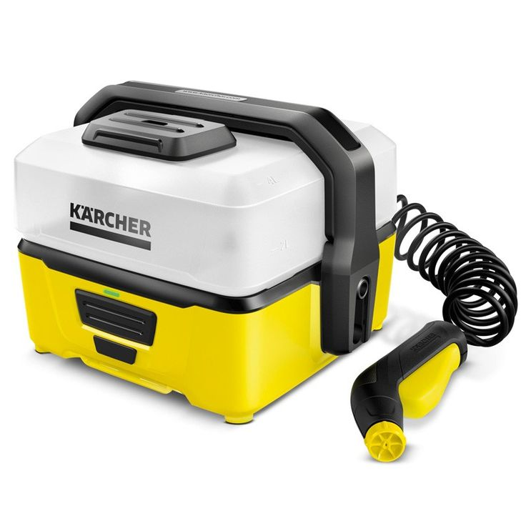 The Karcher OC3 Portable Cleaner is powered by a lithium-ion battery and water tank for mobile application. It is extremely easy to transport and store, and with a flat stream it is ideal for delicate surfaces.