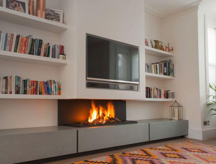 Cómo colocar un televisor encima de tu chimenea #Infografía