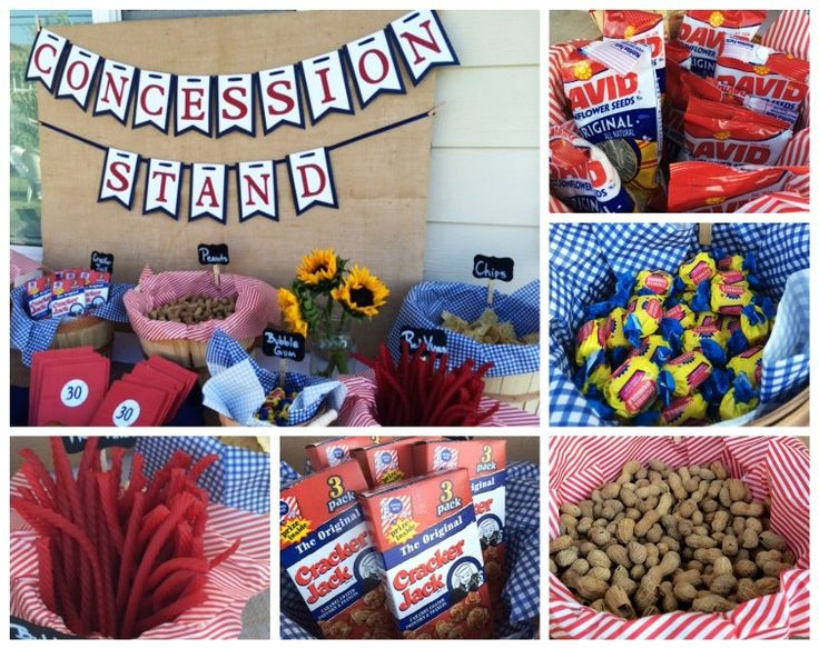 Baseball theme party: Concession Stand