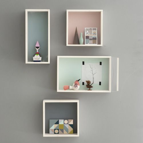 tonal shelvesFermliving, Ideas, Ferm Living, Display Boxes, Colors, Shelves, Grey Wall, Shadows Boxes, Room