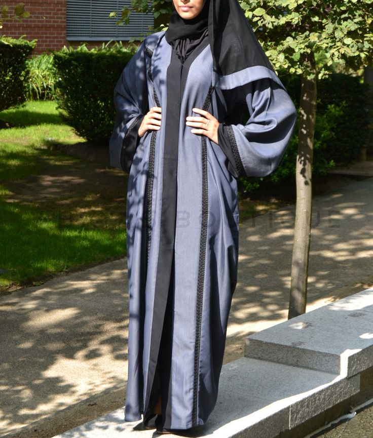 Blue Soft Denim Abaya
