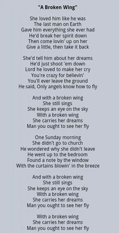 A Broken Wing- Martina McBride