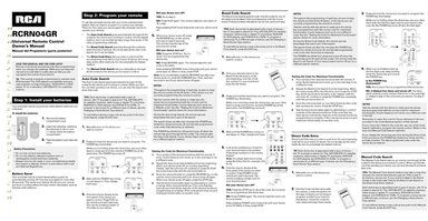 My TV remote operations manual