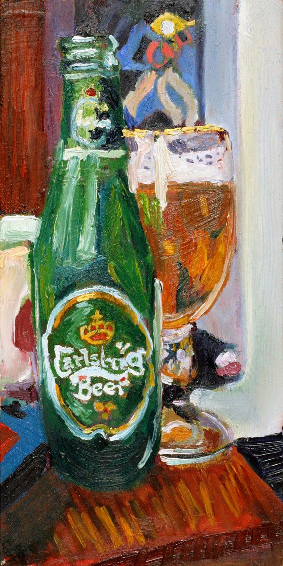 Beer Art Print of Carlsberg Beer by RealArtIsBetter, $35.00