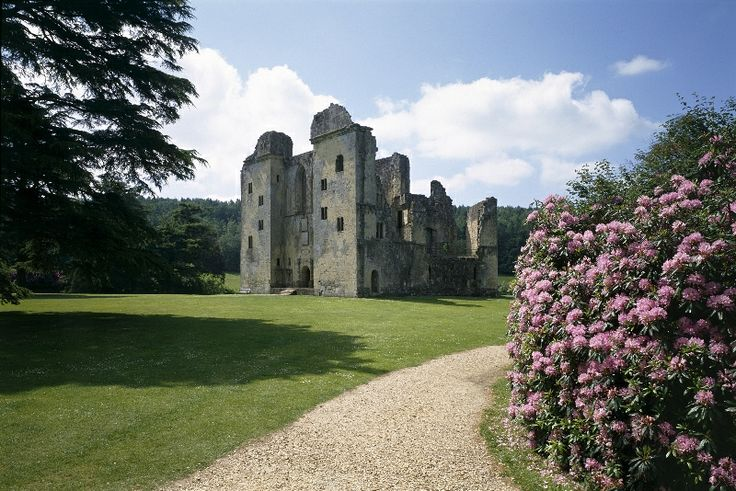 """Old Wardour Castle, Salisbury, Wiltshire, England ( A filming location for """"Robin Hood, Prince of Thieves"""")"""