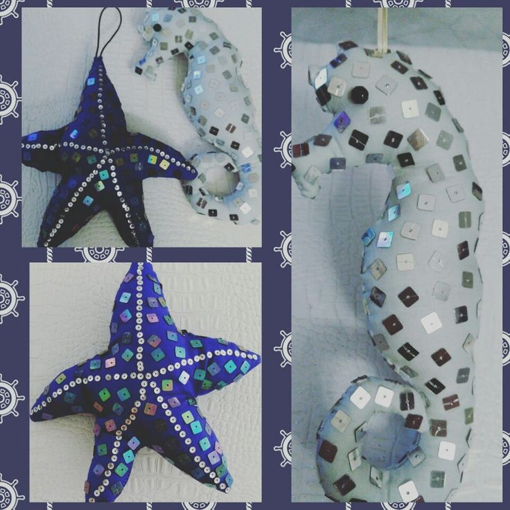 Lavander pouches...Seahorse and star together