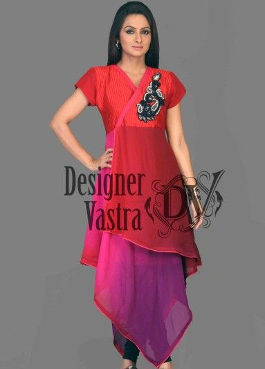 Fascinating Party Wear Tunic Fabric : Shaded Georgette Category: Indo Western Kurtis,suits for women,anarkali suits,dresses @matt sung Vastra