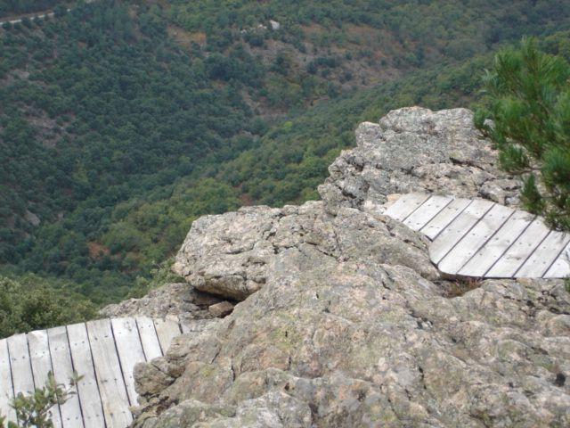 Belevédère des Lichens sentier des Lauzes