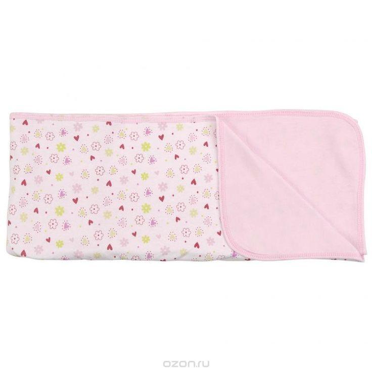 Пеленальное одеяло Цветочки, цвет: розовый, 71 см х 90 см