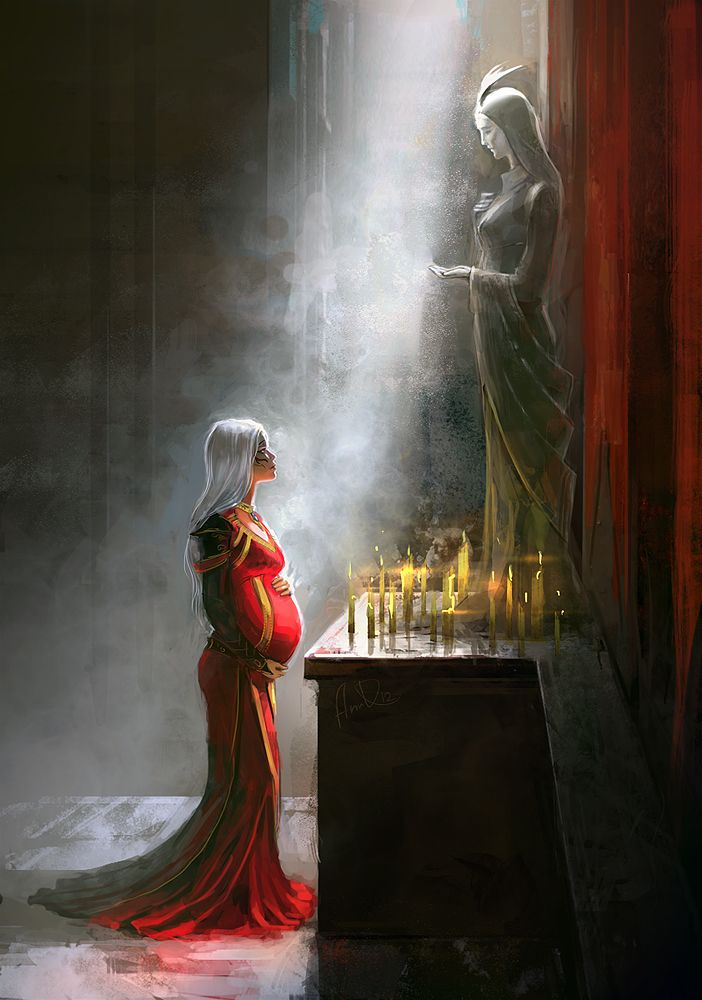 The queen was going to have a heir, not the kings baby, but someone else's. She didint know what to do, she looked to her ancestors stone and asked for help secretly.