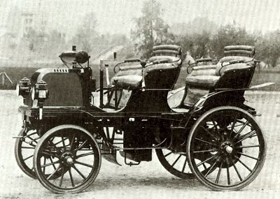 1883 Daimler--one of the first.  We should be thankful to Gottlieb Daimler for his fabulous cars.