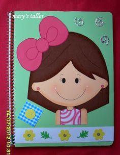 MANUALIDADES Y NOVEDADES: Cuadernos decorados