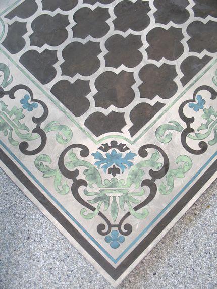 Decorative Concrete Painting : Best images about stenciled concrete on pinterest