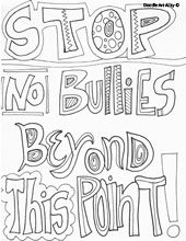 no bullying coloring page