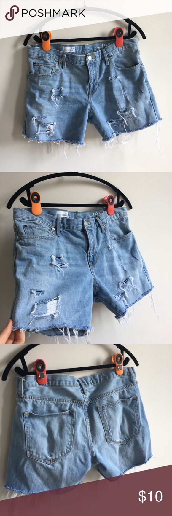 Ripped up shorts :) NOT FOR BIG THIGHS!!! Thats why im giving these suckers up. Im not sure if they were jeans before but i still think they are super cute. Perfect for summer no rips LOL JK. But no stains or smells. Don't be afraid to ask questions or offer. GAP Shorts Jean Shorts