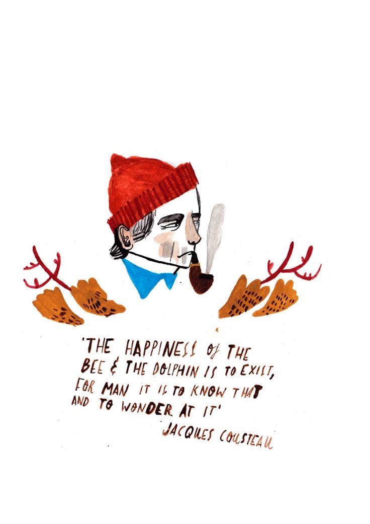 Jacques Cousteau by Dick Vincent Illustration