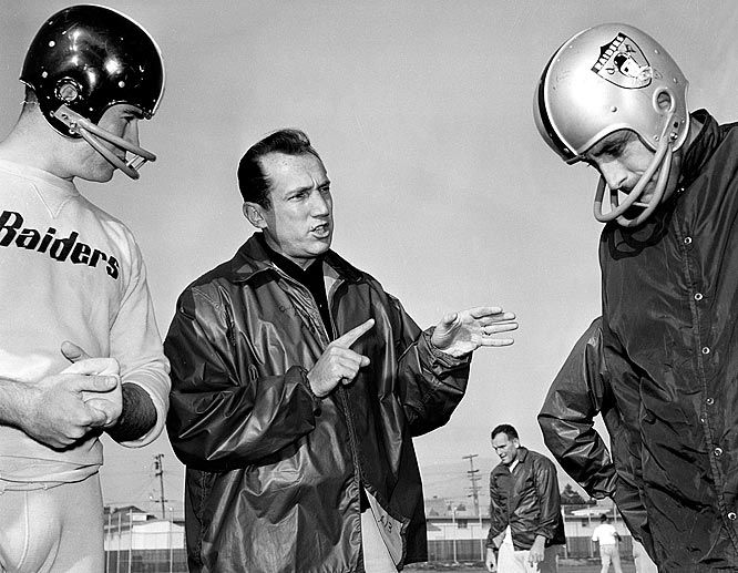 Al Davis as coach of the Oakland Raiders. Davis changed not one, but two professional football leagues