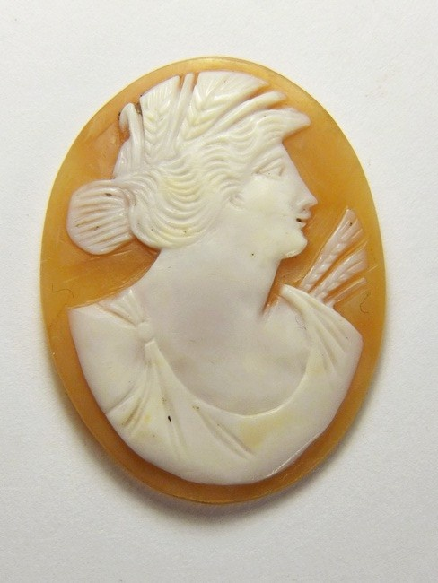 Antique Natural Shell Cameo Demeter Ceres Goddess of The Harvest c1870 Unmounted | eBay