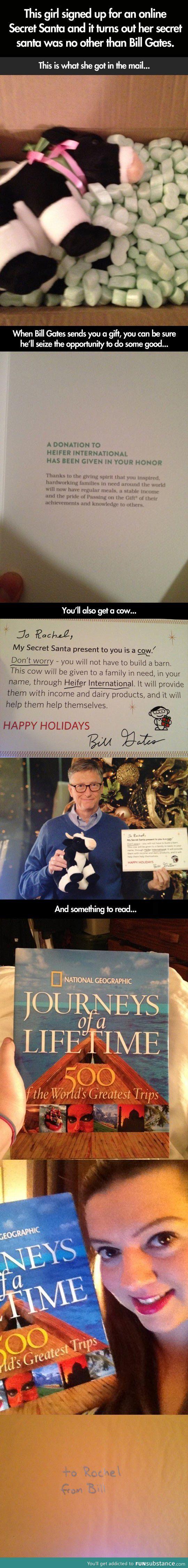 What Bill Gates Gave a Random Stranger in an online Secret Santa