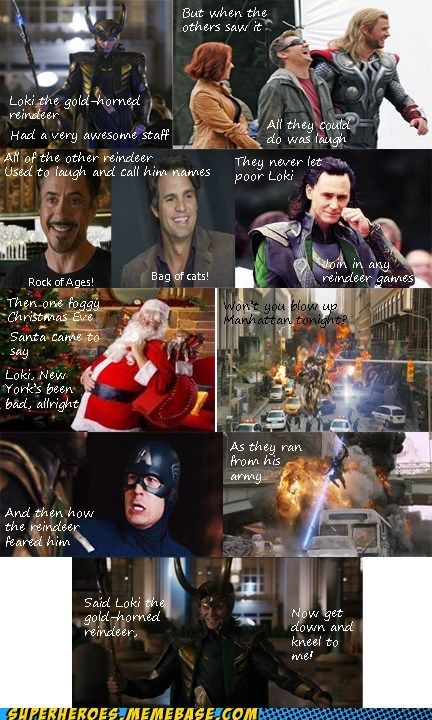 Loki the Gold Horned Reindeer. I am now going to sing this instead of the original!