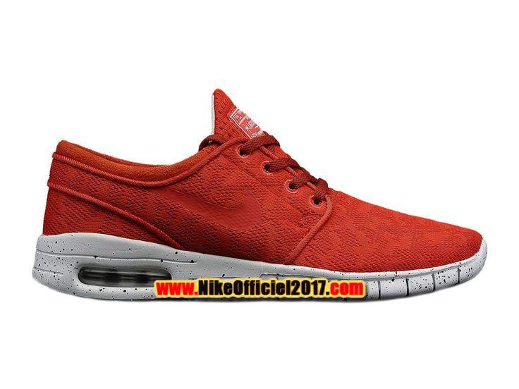 Nike SB Stefan Janoski Max Chaussure Nike Skateboard Pas Cher Pour Homme Rouge/Blanc 631303-661