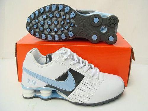 Nike Shox OZ Skor Kvinna Vit Svart Blå 20439 Rea