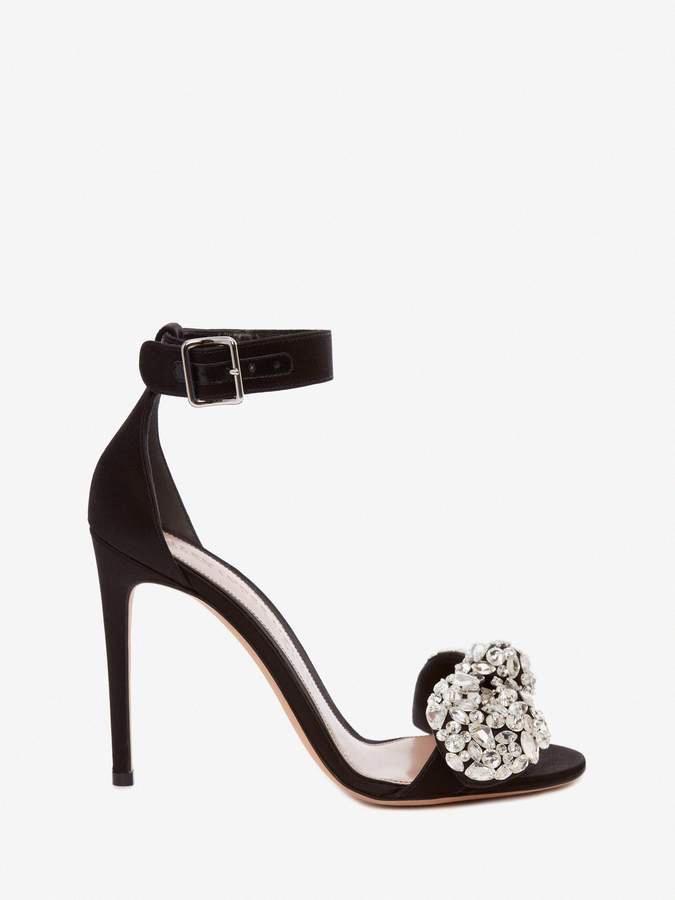 27a52bbd01db Alexander McQueen Bow Embroidered Sandal  AlexanderMcQueen