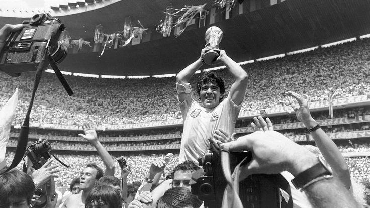 old argentina soccer player maradona