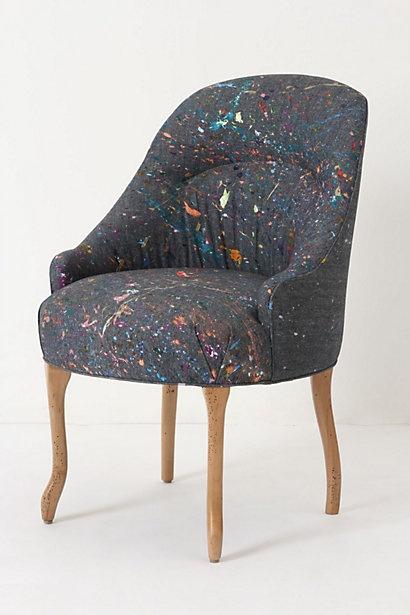 Splattered Pull-Up Chair #anthropologie  $1,698