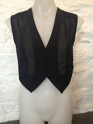 Ladies Just Jeans Black Sheer Button Up Vest - Size 10 - RRP $45  Selling Now! Click through to go to eBay auction.