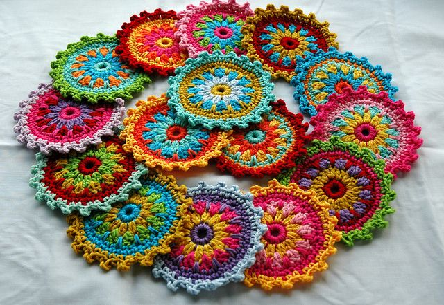 Colorful #crochet patterns are what make me so excited to make something new each day. These are memorizing to look at.