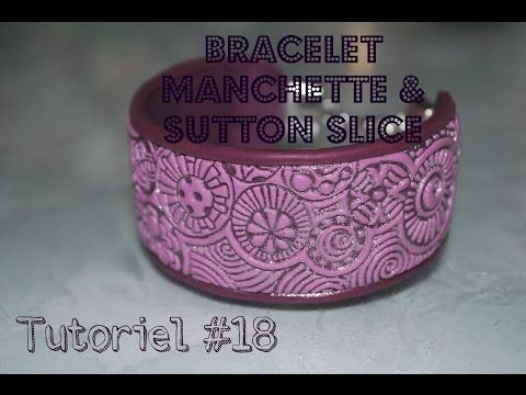 Tuto #18 : bracelet manchette & technique sutton slice - YouTube