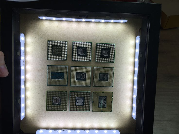 CPU recessed LED lighted frame
