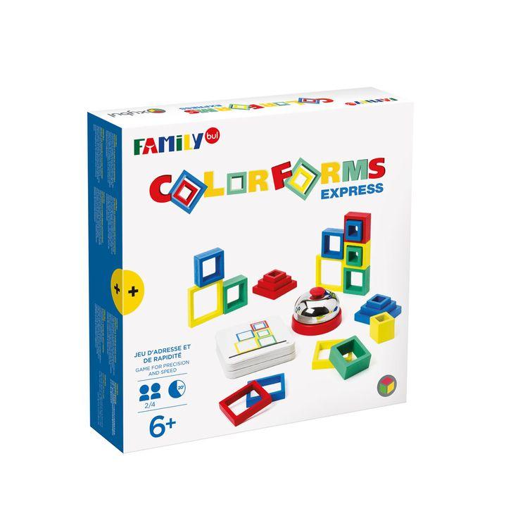 Jeu de société Colorforms express Familybul création Oxybul   Jeux de société, Jeux d ambiance ...