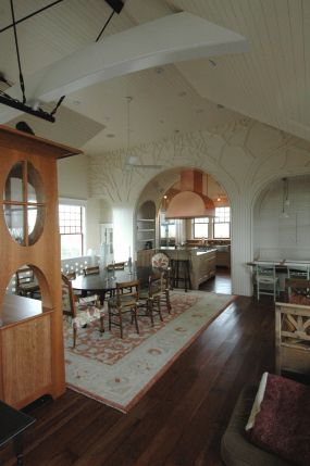 The Tree wall panels at the Dining Room. Hobbit house interior