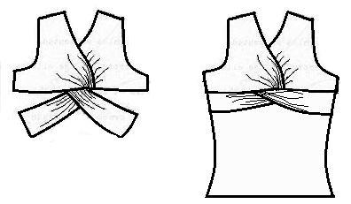 Blusa con drapeado anudado | El costurero de Stella                                                                                                                                                                                 Más