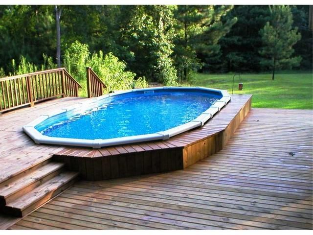 246 best decked out pools images on pinterest above - Above ground swimming pool deck ideas ...