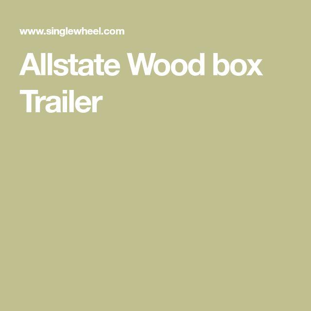 Allstate Wood box Trailer