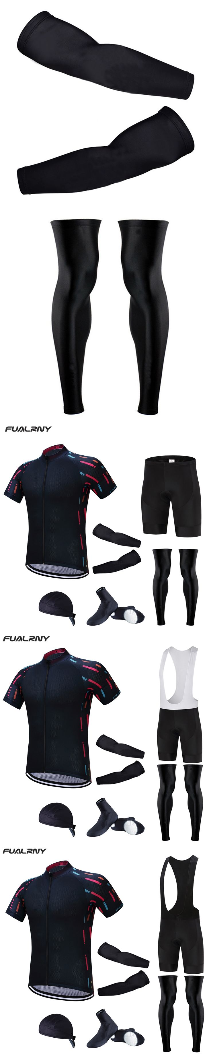 Fualrny 2017 cycling jersey 9D Gel bibs shorts MTB Ropa Ciclismo Breathable mens summer cycling wear Bike Maillot Culotte suit