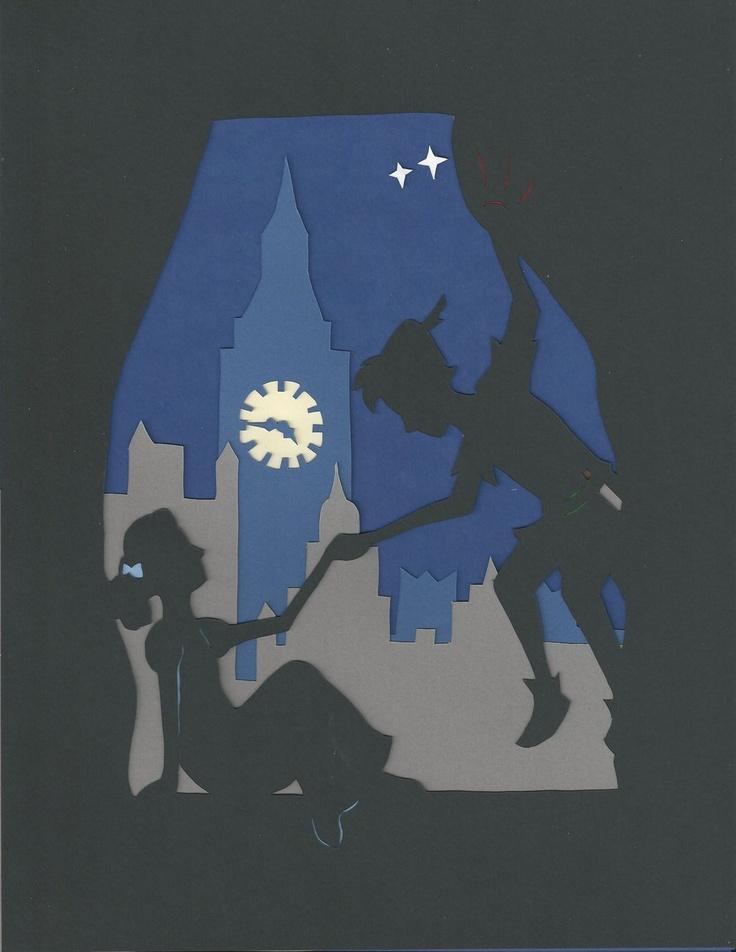 Peter Pan paper silhouette