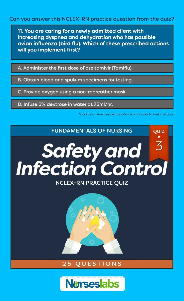 Quiz#3: Safety and Infection Control NCLEX Practice Exam (25