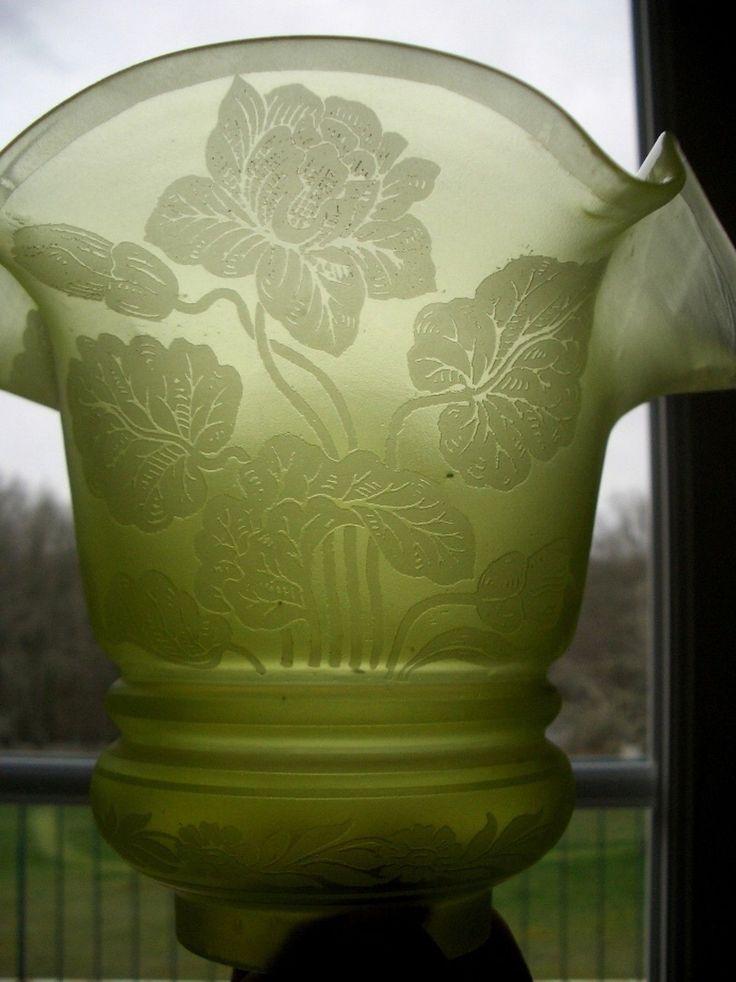 Tulipe ancienne de lampe à pétrole | eBay