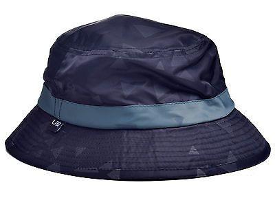 LRG Men's Geometric Solid Black Bucket Hat Size OS