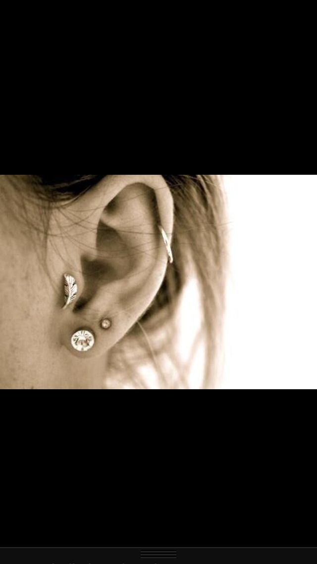 #3 Get the middle cartilage piercing. Got the top ring and three normal ear piercings already.