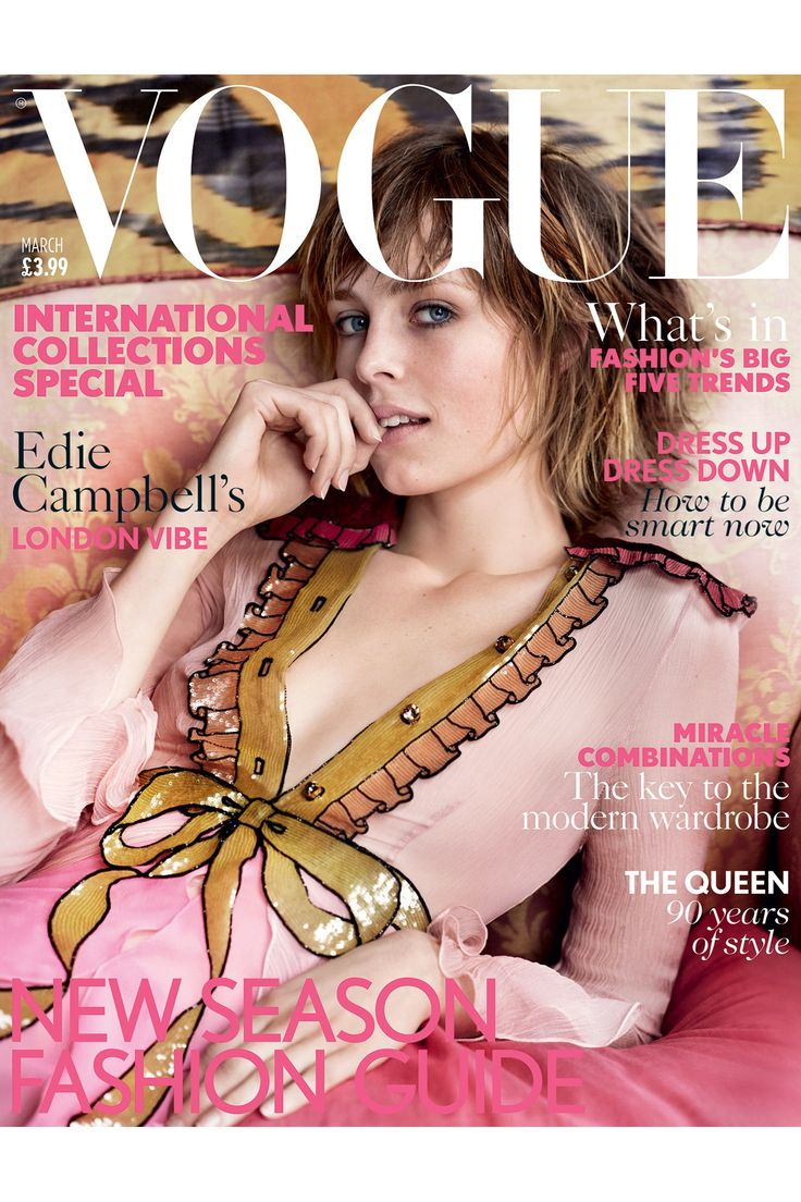 Edie Campbell - Mario Testino - March 2016 issue