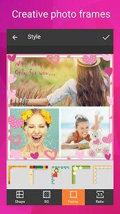Foto collage editor: miniatura de captura de pantalla